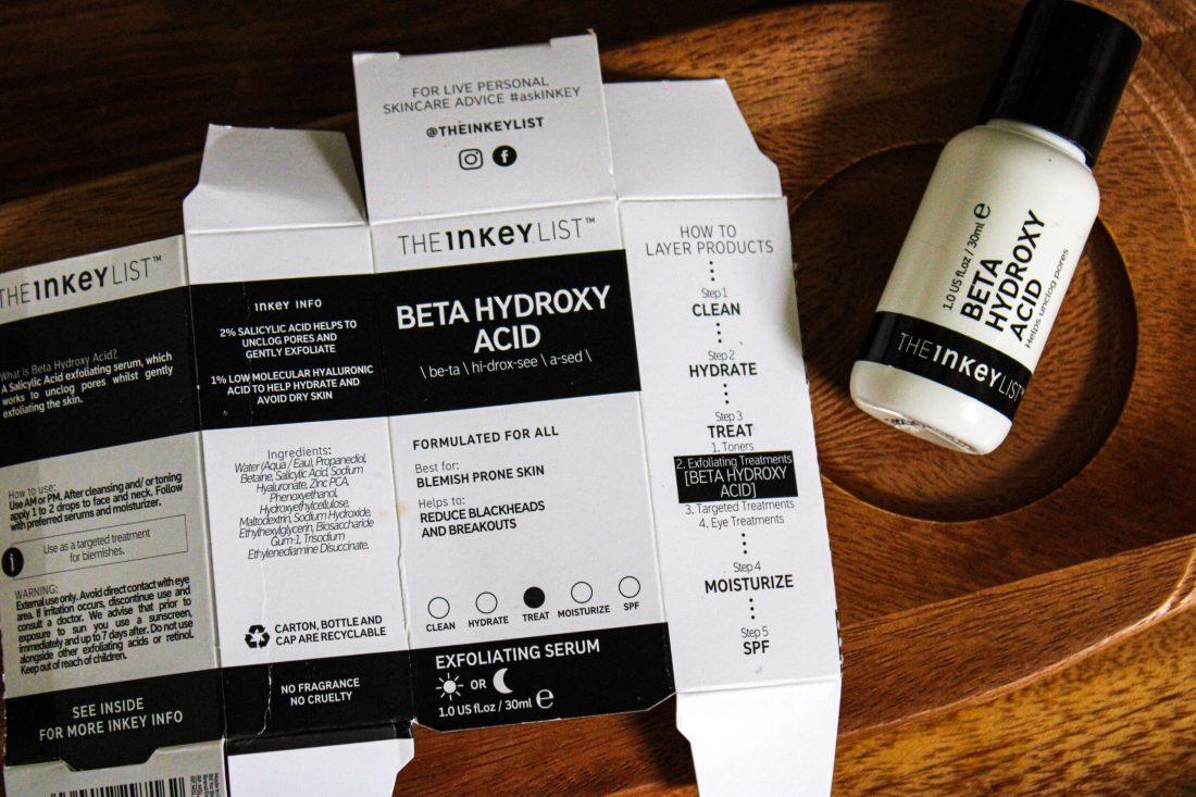 The Inkey List Beta Hydroxy Acid (BHA) Review