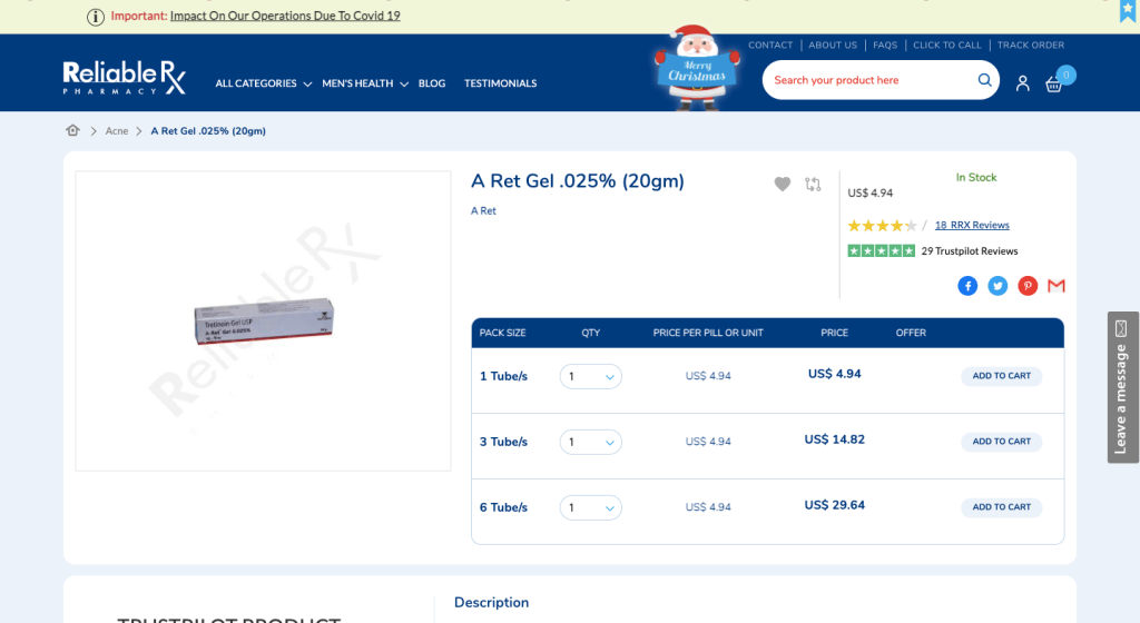 Reliable Rx Pharmacy Review - UK Shipping, Payment, Prices