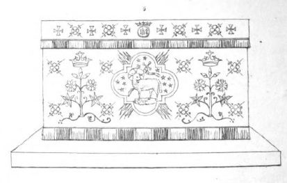 Anastasia Dolby Altar Frontal with Angus Dei Design