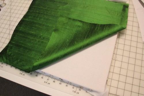 Lining up Silk Dupioni on Alba Maxima Linen