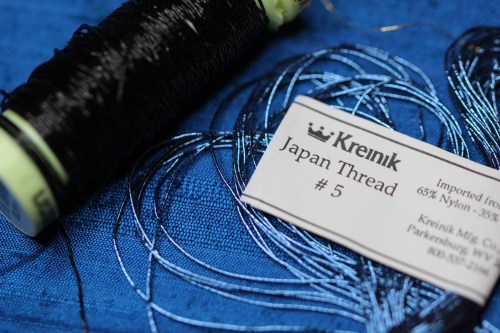 Black Japan #5 Thread used for outlining Ecclesiastical Embroidery Design