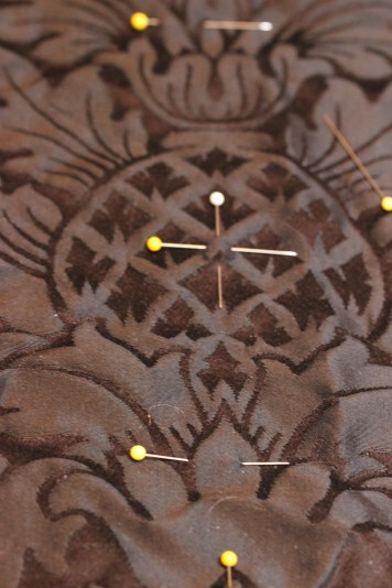 Center of Pineapple Motif on Black Fairford Brocade
