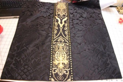 Black Chalice Veil in Fairford with Wakefield in Black/Gold for orphrey trim