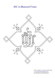 IHC Ecclesiastical Embroidery Pattern