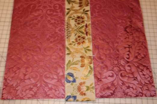 Adding orphrey trim to Rose Chalice Veil