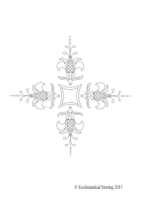 hand embroidery design for church linens