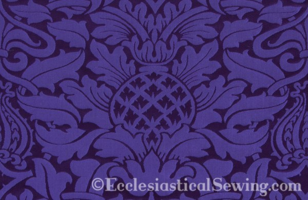 Pineapple motif in Fairford Ecclesiastical Fabric