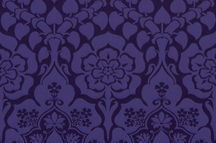 Violet Religous Church vestment fabric