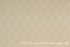 Tudor Rose Ivory Liturgical Silk Damask