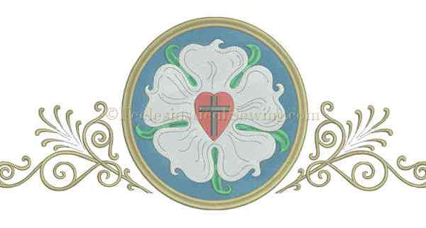 Luther Rose Machine Embroidery Design