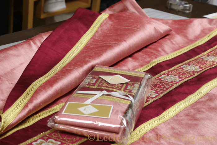 Rose Church Vestment chasuble stole
