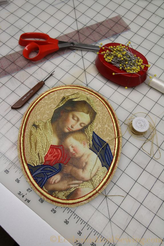 Madonna and Child Goldwork Applique Ecclesiatsical Sewing