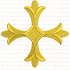 gold cross embroidery pattern idea for Christian vestment pastor priest