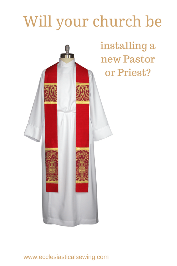 Red Liturgical brocade fabric red clergy stoles pastor stoles clergy stoles deacon stoles church vestments latin mass vestments Pentecost priest stoles silk dupioni stoles Liturgical brocade fabric