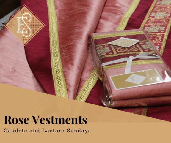 Rose Vestments Rose chasuble Priest clothing chasuble and stole priestly vestments religious vestments Bishop clothing Ecclesiastical Sewing