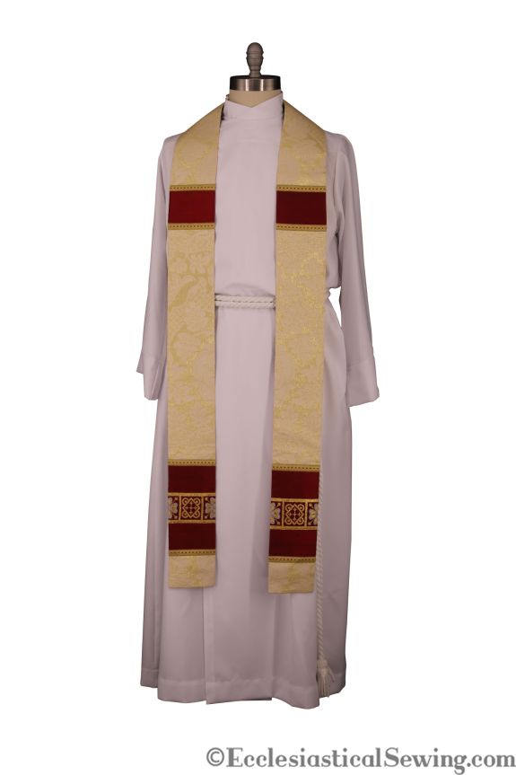 Ivory Shimmer pastor stole priest stole church vestments clergy vestments clergy stole Ecclesiastical Sewing