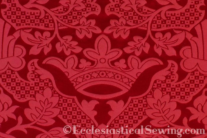 Religious church vestment fabric pentecost vestments red brocade Liturgical Brocade St. Margaret Brocade Ecclesiastical Sewing