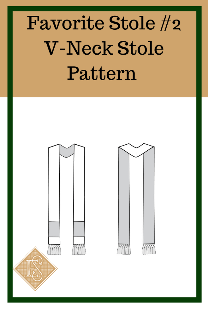 Church Vestment pattern, V-Nck Stole pattern, Pastor Stole Pattern, Clergy Stole Pattern