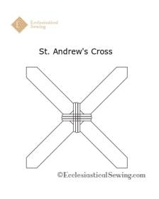 St. Andrew's Cross Design for Hand Embroidery