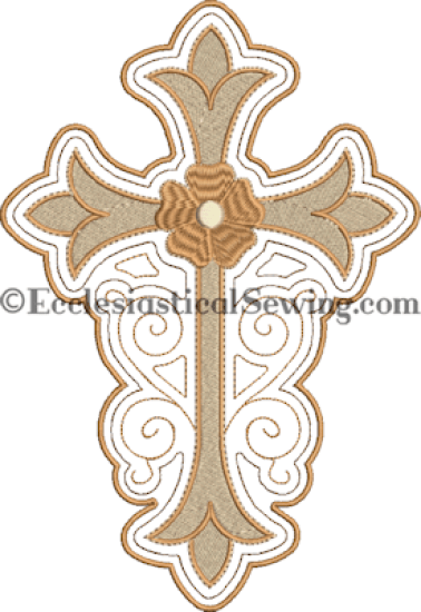 Stained Glass Cross Design Machine Embroidery Design Ecclesiastical Sewing