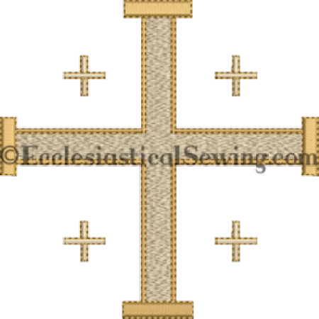 Jerusalem Cross Machine embroidery design Ecclesiastical Sewing