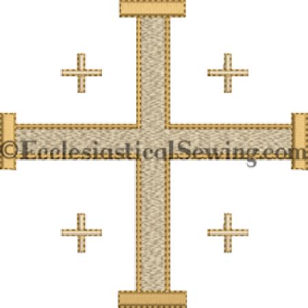 Jerusalem Cross Machine embroidery design Ecclesiastical Sewing
