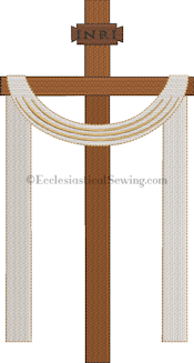 Easter Cross Machine Embroidery Design Ecclesiastical Sewing