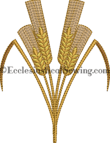 WHeat accent Machine embroideyr design Ecclesiastical Sewing