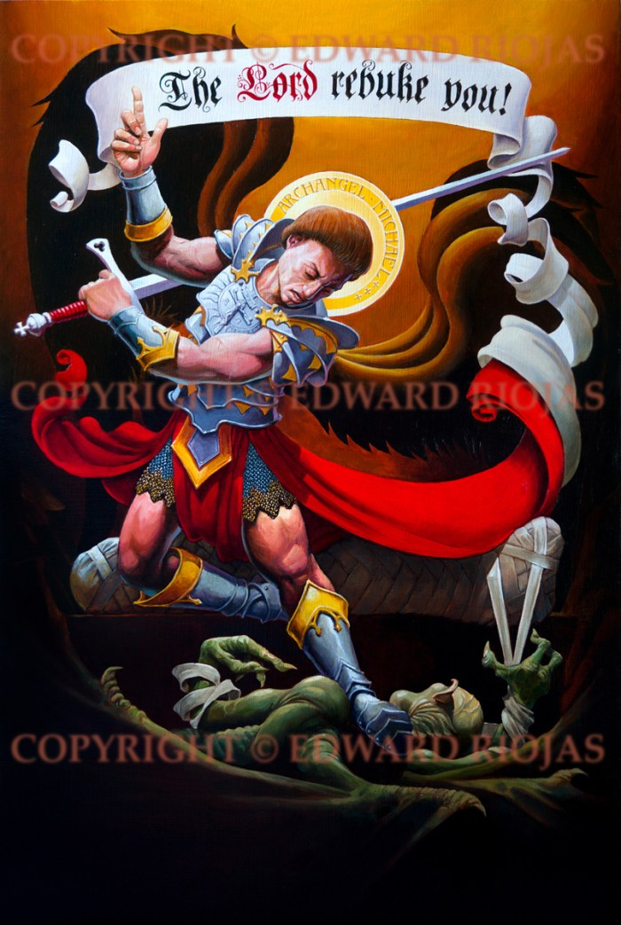 St. Michael Artwork Print Edward Riojas at Ecclesiastical Sewing