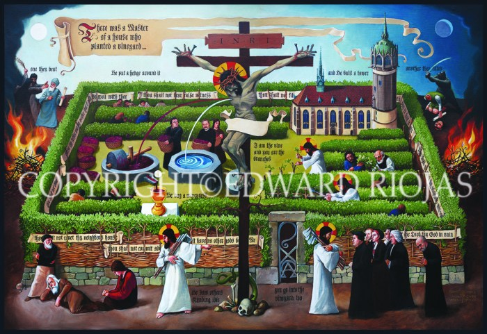 Vineyard by Edward Riojas Liturgical Art Print Ecclesiastical Sewing