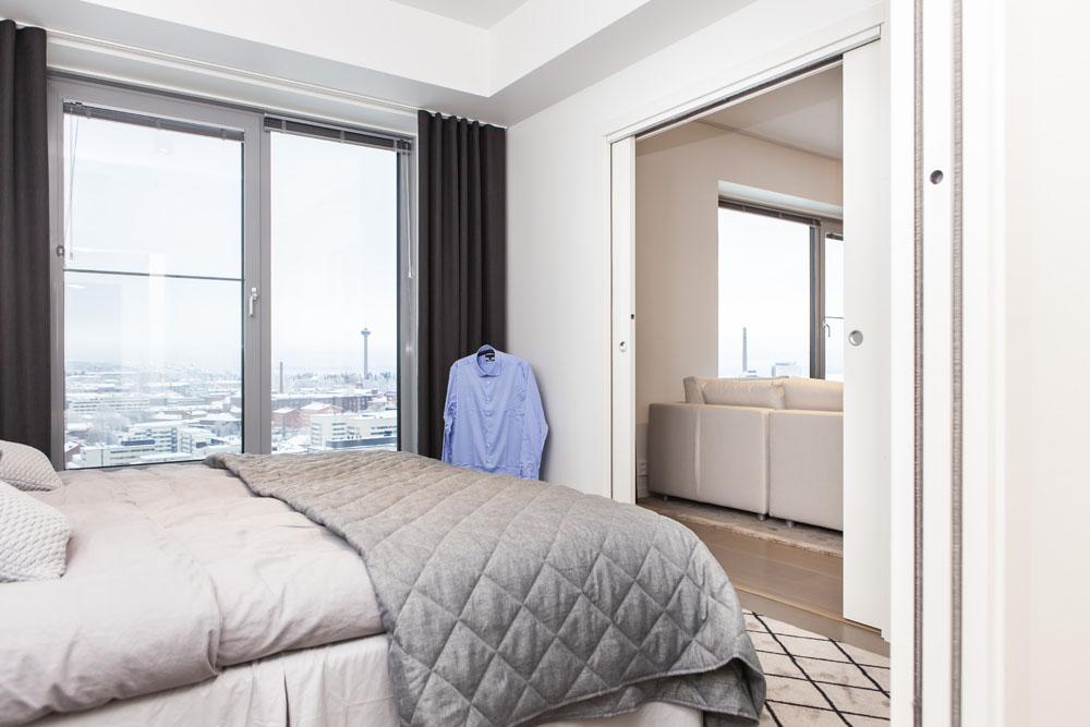 Camera da letto Luminary - ECLISSE ESTENSIONE porta a scomparsa a doppia anta.