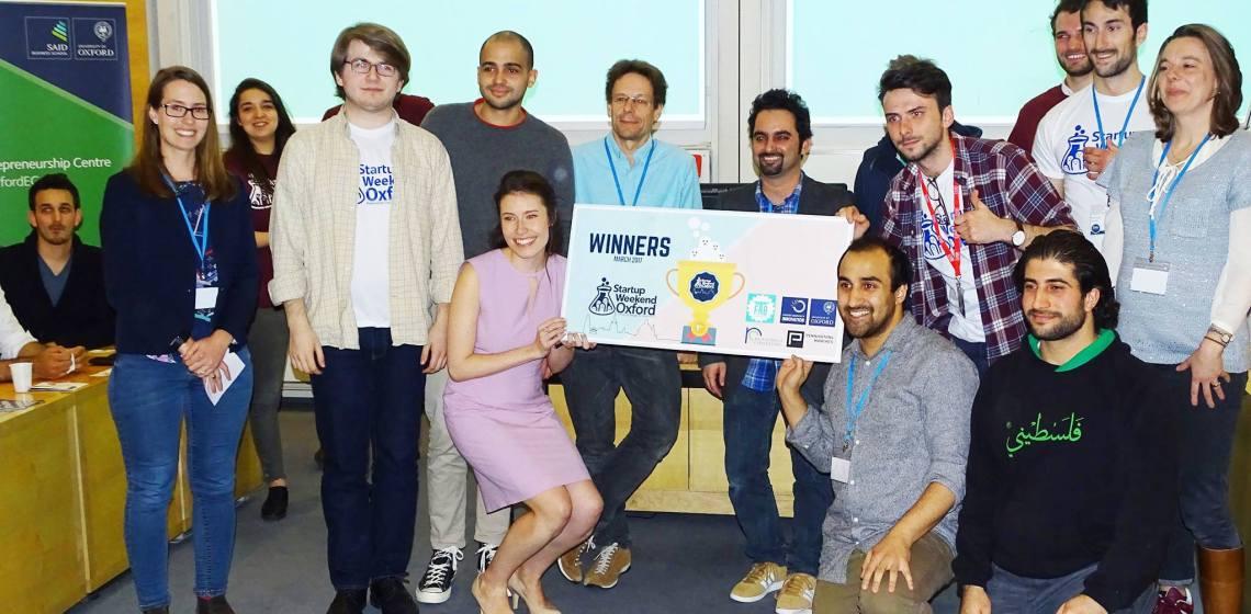 Startup weekend Oxford - gagnants