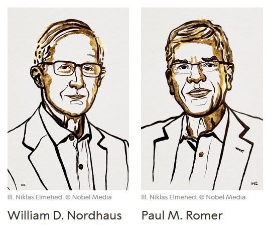 Nobel de Economia 2018 destaca o crescimento sustentável