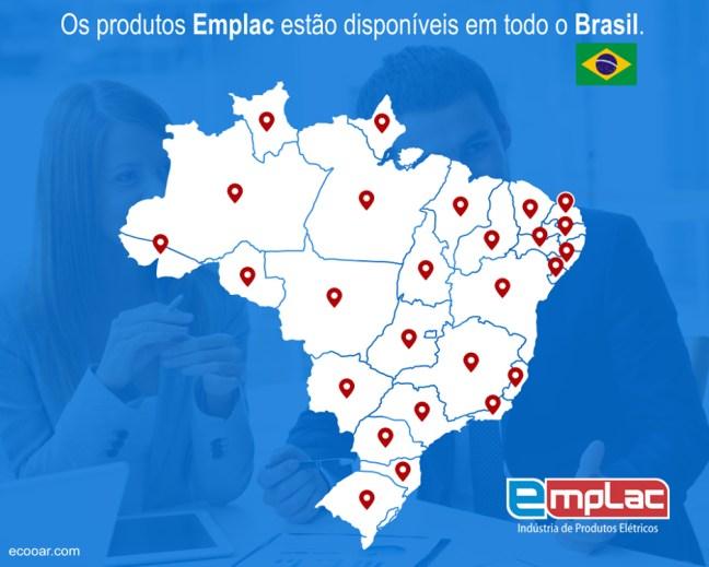 Imagem mostra mapa do Brasil com distribuidores da empresa