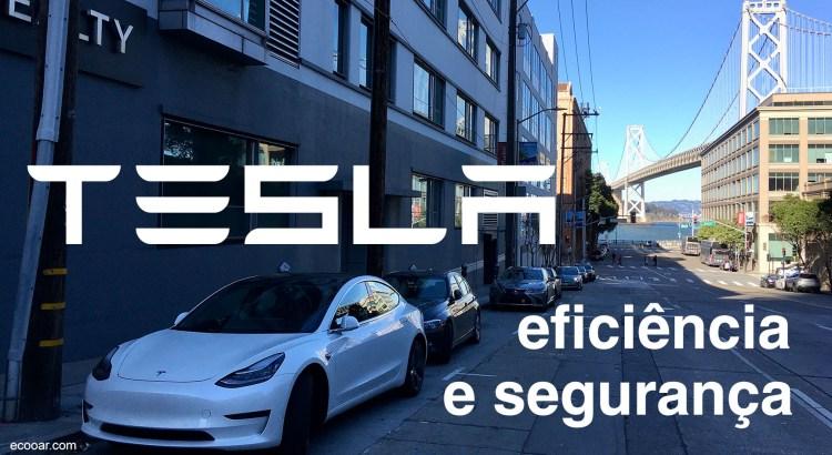 Foto mostra um Tesla estacionado em uma das ruas de San Francisco