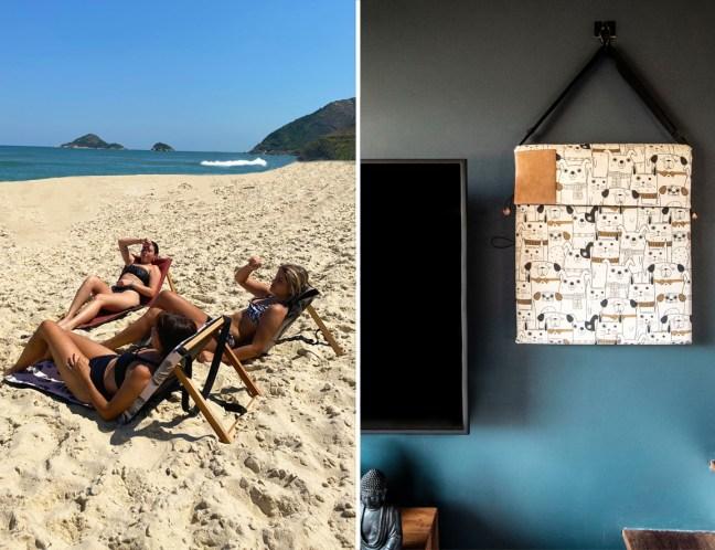 Foto mostra IAIO na praia e em casa