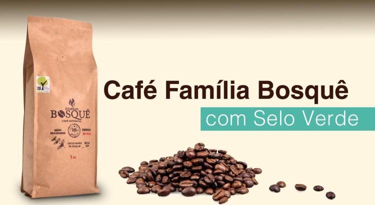 Foto mostra embalagem do Café Família Bosquê