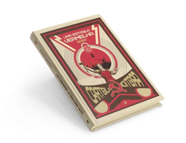Foto mostra livro Uma estrela Vermelha da Cartola Editora