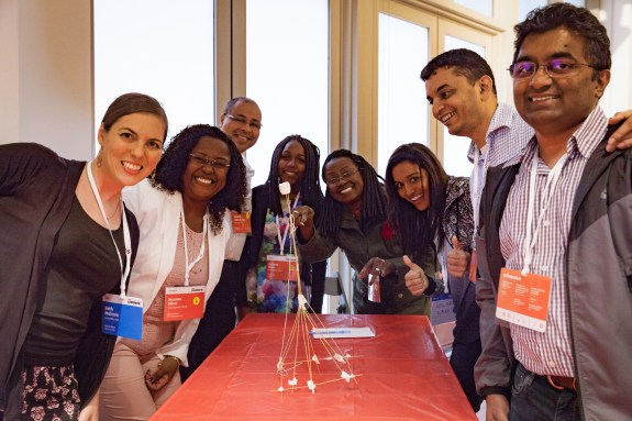 Alicia Lane leads Dollar Store STEM activities at TED HQ. Photo: Dian Lofton/TED