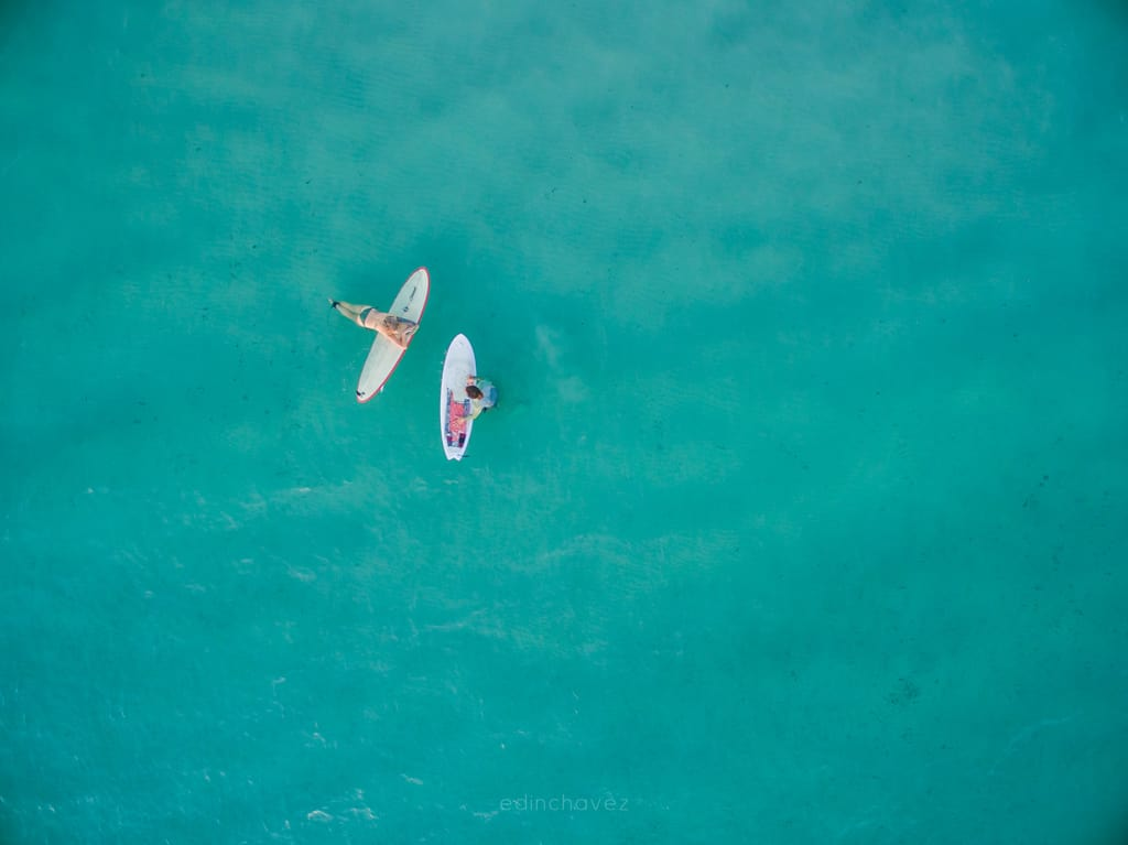 Surfing the Caribbean usually consists of haing out in the beautiful waters