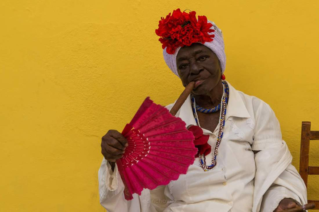 The most Photographed face in Havana - image  on https://blog.edinchavez.com