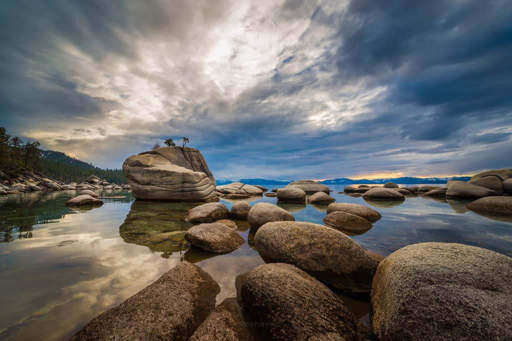 Bonsai Rock Lake Tahoe Day Photo