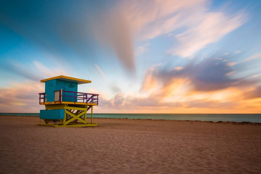 Miami Beach lifeguard towers best photography spots Miami sunrise