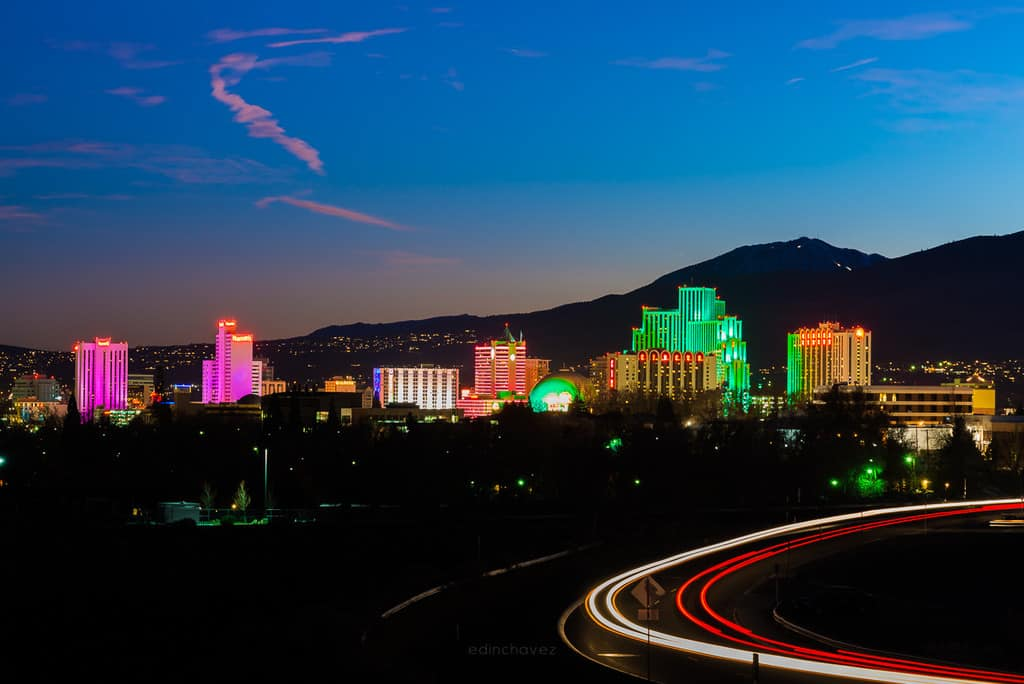 best places to photograph reno nevada at night