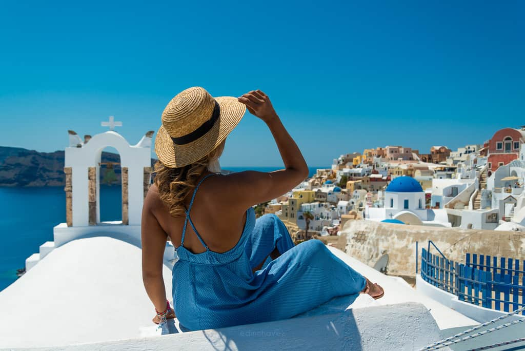 Best photography locations in Santorini Bells and blue domes