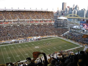 Photo by Kristy Potter. Heinz Field with the city of Pittsburgh in the background.