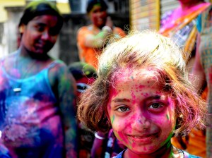 Holi is a springtime festival celebrated mostly in Northern India.Photograph by Nilanjan Basu