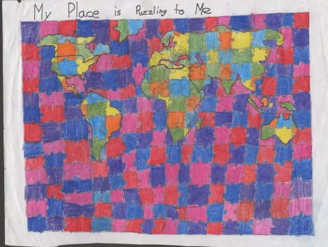 A map by a youth cartographer.