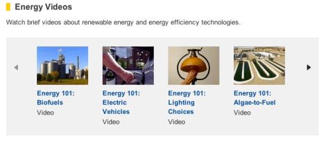 Energy videos