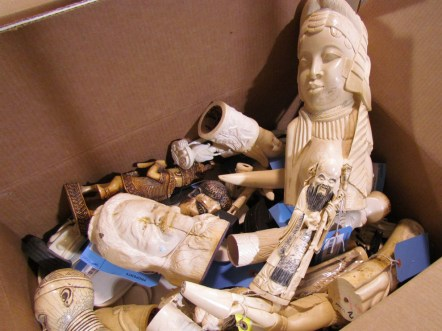 Elephant ivory like this contraband is one of the most familiar materials in wildlife trafficking. Photograph courtesy U.S. Fish and Wildlife Service. Public domain